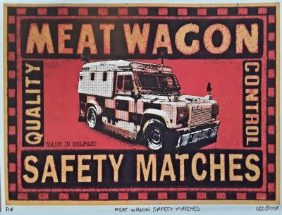 Meat Wagon Matches print by Leo Boyd