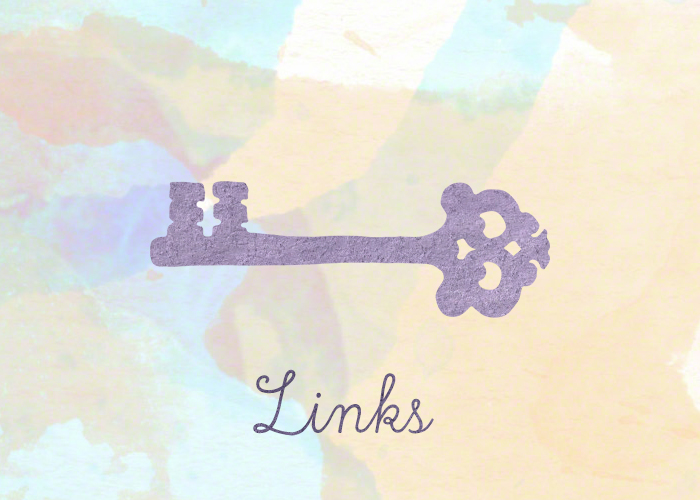 Links. The text 'links' underneath a big, old-fashioned key. Links I felt were interesting.