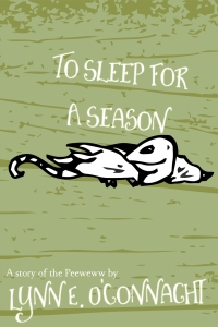 To Sleep for a Season: A small strange creature with wings and a long tail on a colourful background.