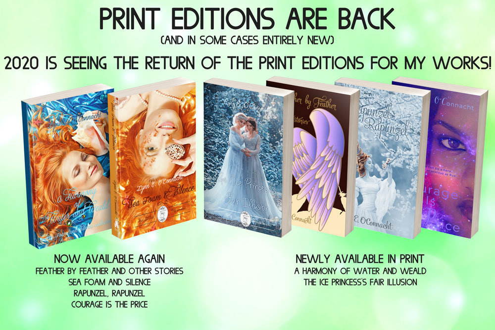 Promo to announce the return of the Print Editions