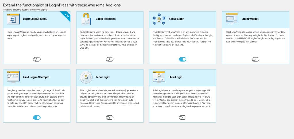 LoginPress is a matured Social Login plugin with advanced features