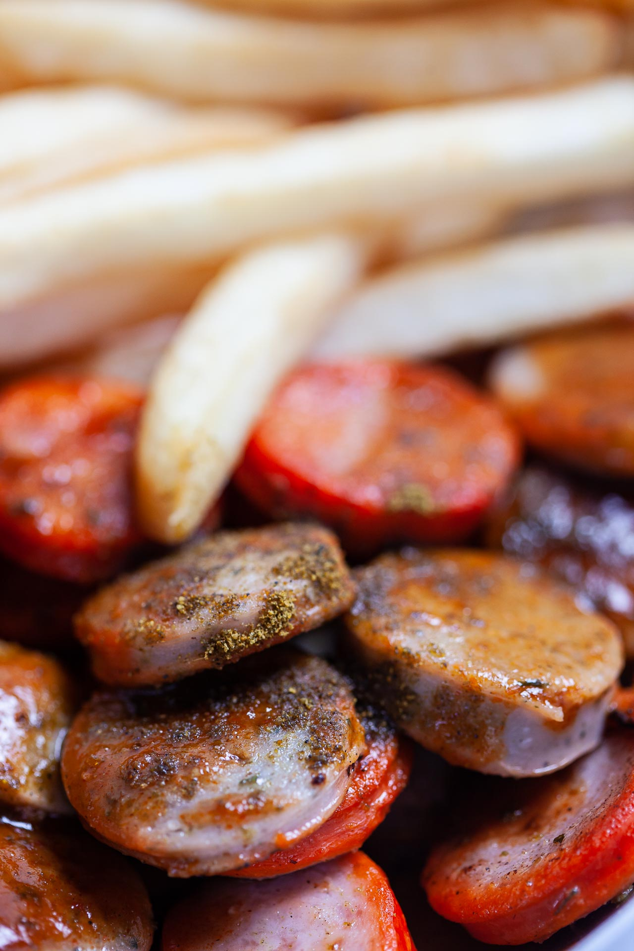 Food Photography Currywurst Macro