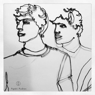 Twins par Agnès Audras 3D Brush Pinceaux Léonard
