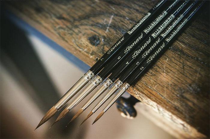 Pinceaux Léonard en martre aquarelle