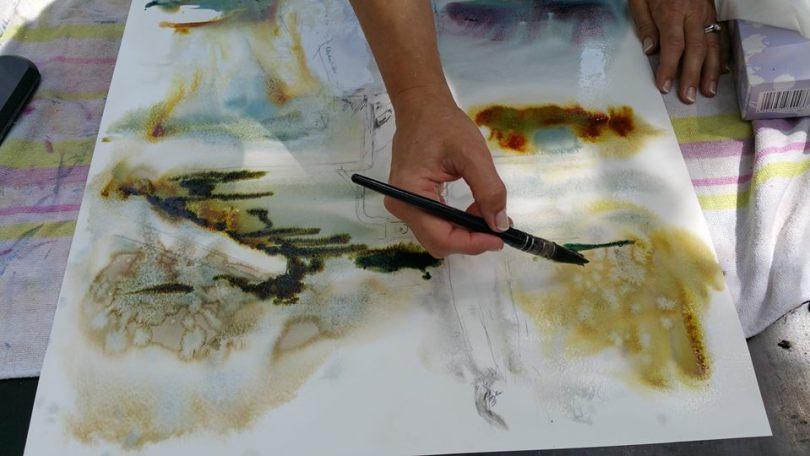 Corinne Izquierdo utilisant l'Aquarellys