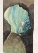 Crayon et encres sur papier 27 × 35,5 cm