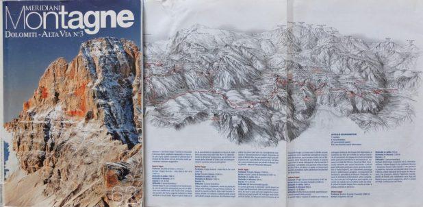 Copertina rivista e panoramica percorso Alta Via n° 3