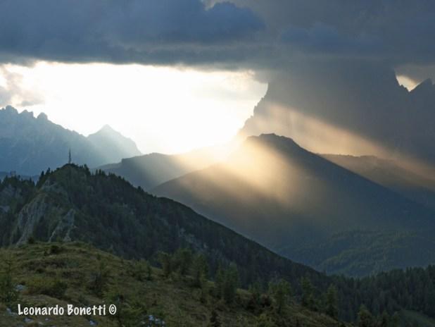 Tramonto da non credere sulle montagne Ampezzane