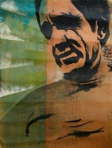 Leonardo Spina, Gaetano, 2009 Acrilyc on paper, 70 x 100 cm