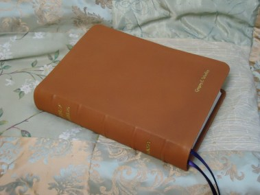 Tobacco Soft-Tanned Goatskin Bible