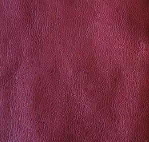 Deep red soft-tanned goatskin