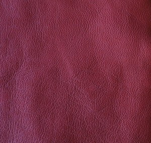 Deep red soft-tanned goatskin