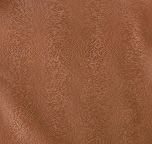 Darker tobacco soft-tanned goatskin
