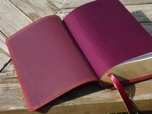 Burgundy Lambskin with Burgundy Book Cloth