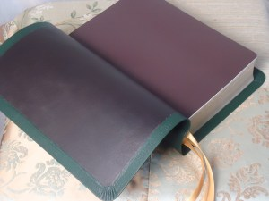 Dark Brown Lambskin with Brown Leatherette