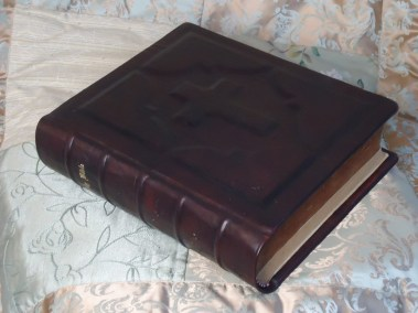 Custom Family Bible with Raised Cross