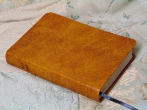 Bible in Light-to-Medium Saddle Tan English CAlfskin