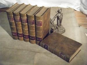 Antique multi-volume history set