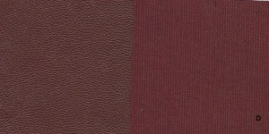 Combo D -- Burgundy Lambskin with Burgundy Silk Cloth