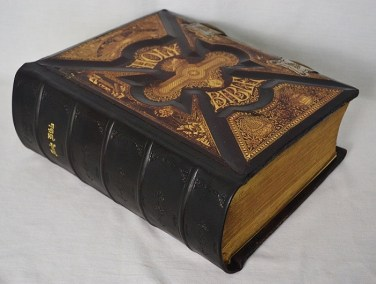 19th Century Family Bible with Spine Replacement