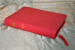 Red Soft-Tanned Goatskin Bible