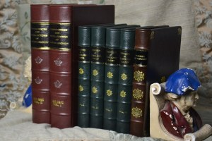 Nicely rebound leather books make for a better shelf appearance