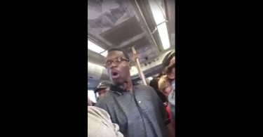 Man on Train Goes Crazy After Getting His Foot Stepped On