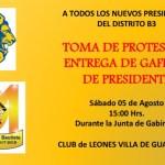 Invitación Nuevos Presidentes
