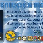 Bienvenido a México 2do. Vicepresidente Internacional