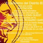 Invitación a todo el Distrito B3 / Lions Quest