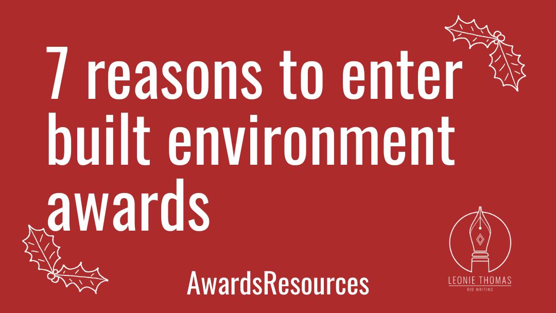 7 reasons to enter built environment awards