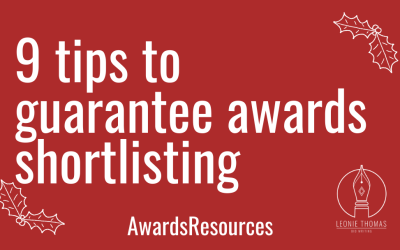 9 tips to guarantee awards shortlisting