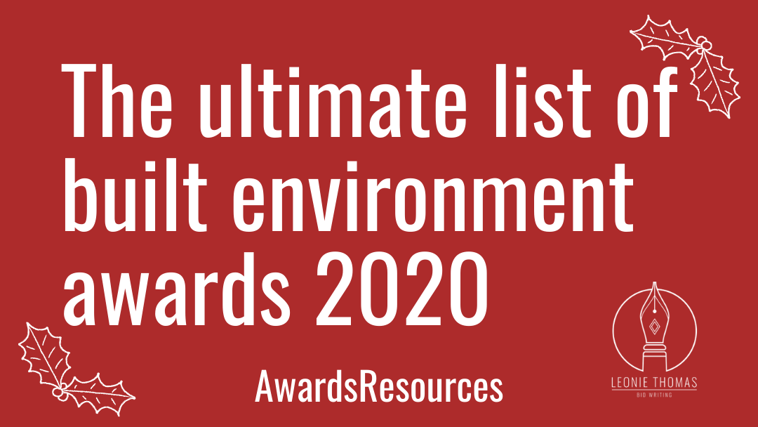 Built environment awards 2020