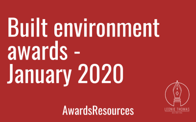 Built environment awards January 2020