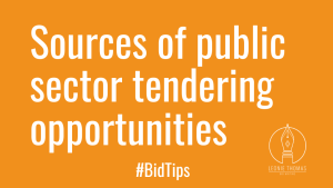sources of public sector tendering opportunities