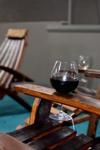 Arm rest for our Winerondack Chair, just place your wine glass and enjoy!