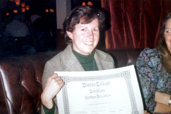 Certificate from Pearse College, Crumlin..