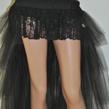 Long Black Tulle Burlesque