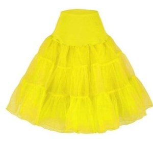 Yellow Rockabilly Swing Layered Petticoat