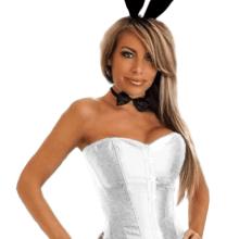 tuxedo playboy bunny costume White