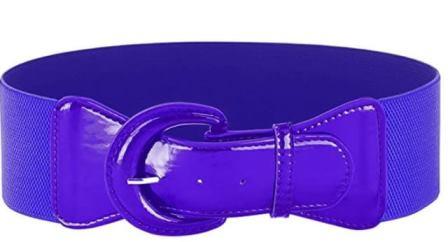 Purple PU Elastic Stretch Cinch Belt for Corset Retro Rockabilly