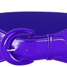 Purple PU Elastic Stretch Cinch Belt for Corset Retro Rockabilly