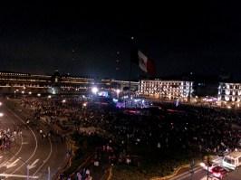 Vista del Zócalo. Ciudad de México