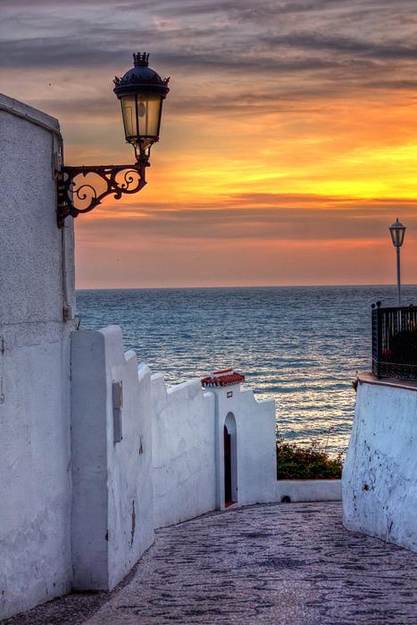 Sunset Lantern, Malaga, Spain