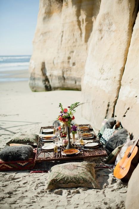 Beach Picnic, Torrey Pines, California