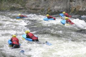 natuur sport vakantie in de ariège. hydrospeed in de wilde wateren