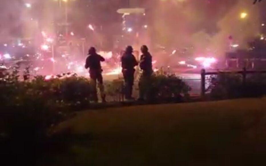 Grigny (Essonne), nuit de vendredi à samedi. Des policiers ont été pris à partie dans le quartier de Grigny 2 par des tirs de mortiers.