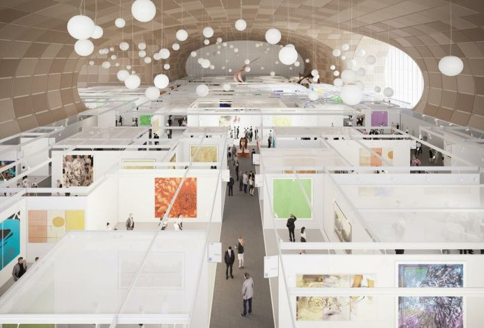 The temporary building will host the events of the Grand Palais during its renovation. Wilmotte & Associates Architects