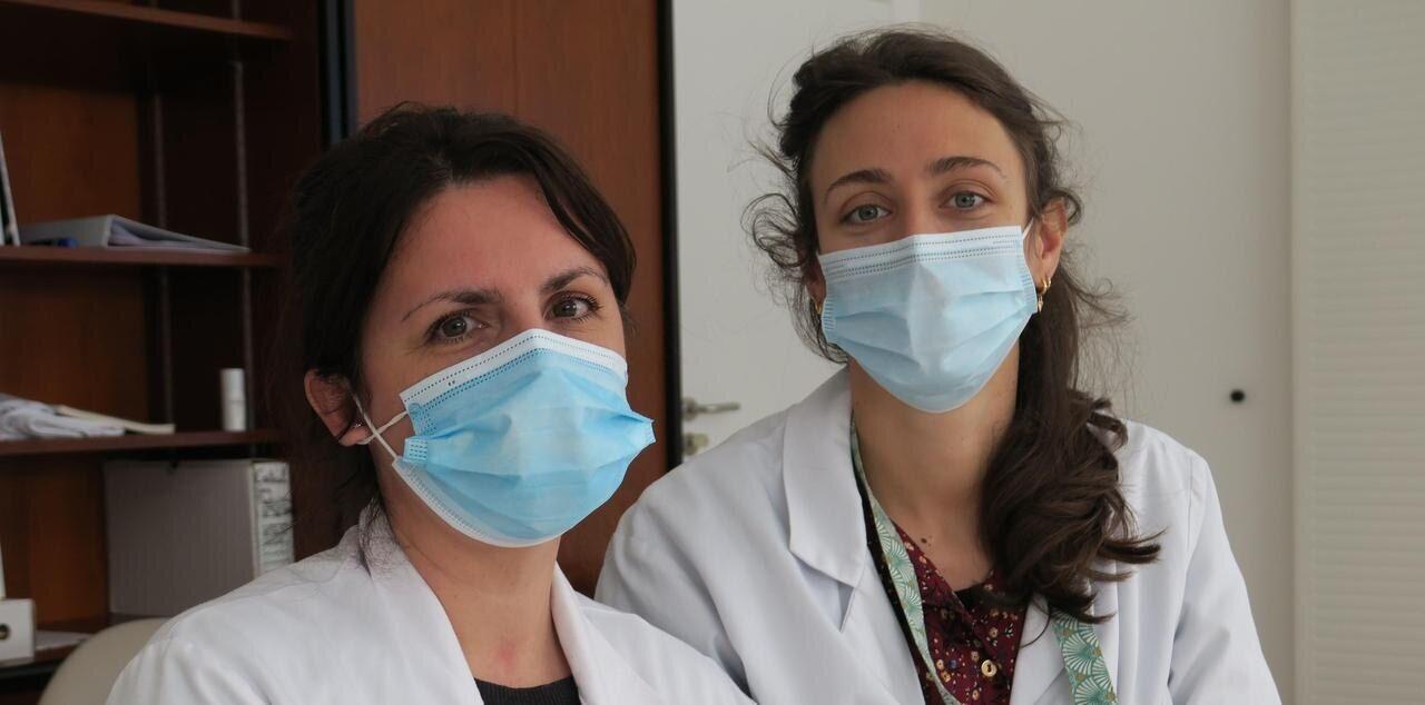 Céline Clergue et Pascale Labedade, médecins au service réanimation du CHSF. LP/S.M.