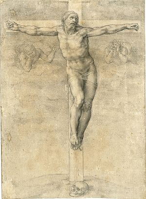 300px-Miguel_Angel_Crucifixion_drawing
